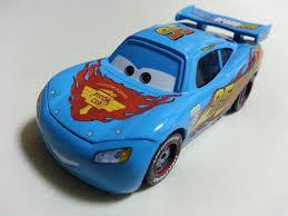 mattel disney pixar cars blue lightning mcqueen diecast 1 55 toy