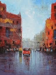 buy after rain in kolkata painting by purnendu mandal online eikowa