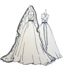 best wedding gift ever 9x12 custom wedding dress sketch by