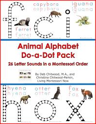 animal alphabet do a dot pack u2013 living montessori now