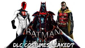 batman arkham knight dlc costumes leaked youtube