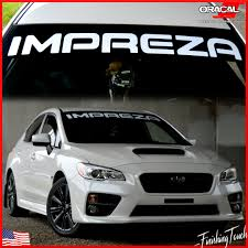 subaru rally decal subaru impreza vinyl windshield decal custom size die cut