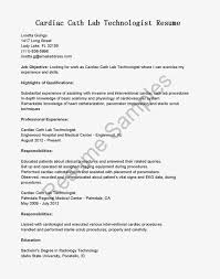 Best Ultrasound Resume by Cardiac Technician Cover Letter