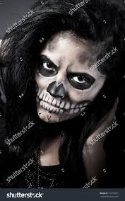 woman mask halloween young woman day dead mask skull stock photo 116279251 shutterstock