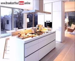 moderne kche mit kochinsel und theke küche kochinsel bulthaup b weiß matt holz theke