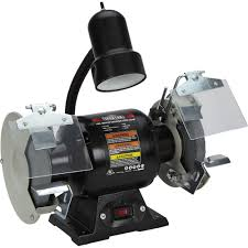 free shipping u2014 ironton 6in bench grinder with lamp bench