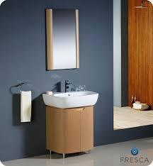 Free Standing Bathroom Sink Cabinets by Fresca Andria Light Oak Modern Bathroom Vanity With Mirror Free