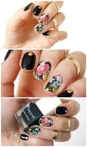 chic flower nail art water decals transfer stickers splendid water
