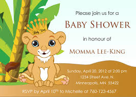 lion king baby shower invitations party city u2022 baby showers