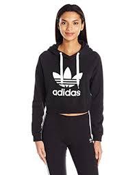 adidas crop top sweater adidas originals s crop hoodie at amazon s clothing store