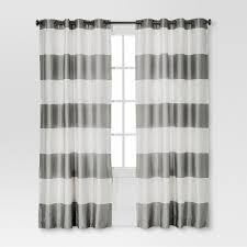 Black And Gray Curtains Bold Curtain Panel Threshold Target