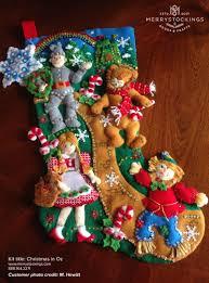 customer photo of christmas in oz bucilla stocking kit bucilla