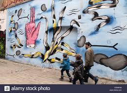 street art at ruska street backyard in the polish city of wroclaw
