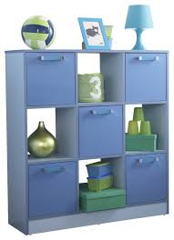 Childrens Bedroom Furniture 2 Tone Blue 3x3 Storage Cube Boys Childrens Bedroom Furniture