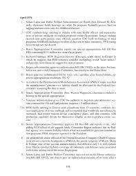 appendix c detailed chronology the swine flu affair decision