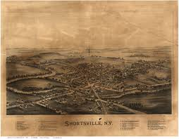 Historic Map Works Ny Bird U0027s Eye Views