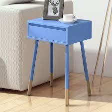 furniture of america faret mid century modern two tone 1 drawer