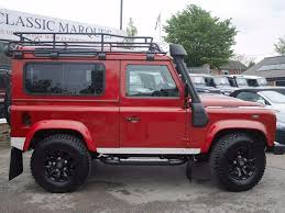 red land rover used land rover defender red for sale motors co uk