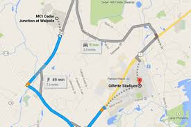 Gillette Stadium Map Aaron Hernandez Will Spend Life In Prison About 2 Miles From The