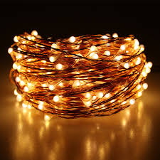 20m 200 led outdoor lights warm white copper wire