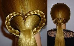 Frisuren Lange Haare Flechten by Herz Zopf Frisur Für Mittel Langehaare Zum Valentinstag