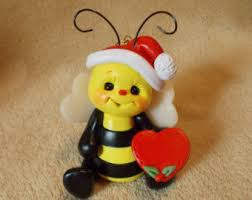 bee ornament etsy