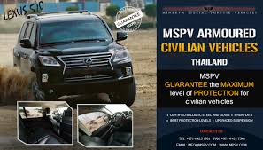 lexus of thailand armoured vehicles thailand bulletproof cars thailand cash in