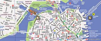 boston tourist map map of boston tourist travel map travelquaz com