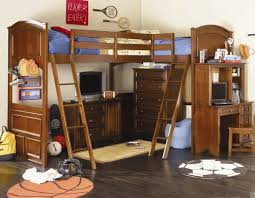 Kids Loft Beds With Desk And Stairs by Furniture The Most Amusing Wood Loft Bed With Desk For Kids