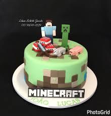bolo com tema minecraft aniversario aniversarioinfantil bolo
