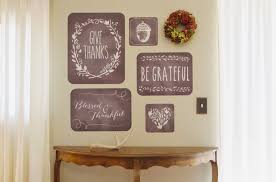 Thanksgiving Home Decorations Ideas by Inviting Thanksgiving Wall Decals With Red Color Assorted Matching