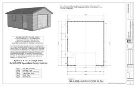 sample garage plan plans pdf dwg architecture plans 38803