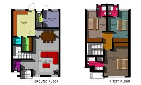 Ground And First Floor Plans by Woodlands Park Sangotedo Trendy Homes Limited