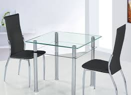 Kitchen Table With Bench Glass Top Table And  Kitchen Chairs Plus - Glass top tables for kitchen