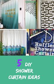 Teal Ruffle Shower Curtain by 5 Diy Shower Curtain Ideas Discountqueens Com