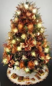 fresh ideas mini tabletop tree decorative copper gold 20