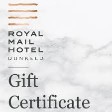 hotel gift certificates 250 gift certificate royal mail hotel dunkeld