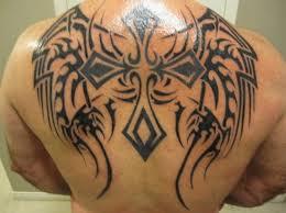 back tribal cross tattoos dashing back tribal cross tribal angel