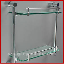 Wall Mounted Bathroom Shelves High Quality Wall Mounted Bathroom Shelf 2 Tier Glass Shelve