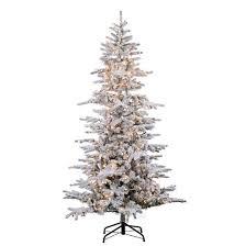 9ft pre lit artificial tree flocked cambridge fir