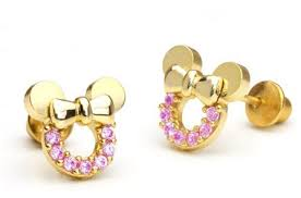minnie mouse earrings disney discovery 14k gold minnie mouse studs