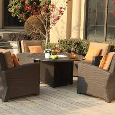 Patio Furniture With Fire Pit Set - exterior cozy wooden and metal material for lowes patio chairs