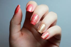 delight in nails ornate coral nail art eye candy nails training
