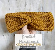 crochet ear warmer headband chained crochet headband pattern rescued paw designs crochet by