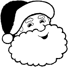 santa claus face clipart black and white clipartsgram com