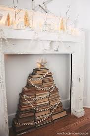my home decoration vintage book stack christmas tree jennifer rizzo
