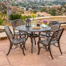 Aluminum Dining Room Chairs Covington Outdoor 5pcs Cast Aluminum Dining Set U2013 Gdf Studio