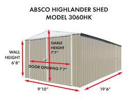 Absco Awning Absco Highlander 10x20 Storage Building Cc3060hk On Sale