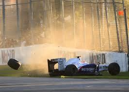 robert kubica and sebastian vettel crash in australian gp 2009