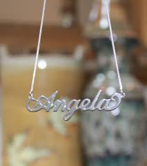 sterling silver nameplate necklace sterling silver name necklace carrie bradshaw be monogrammed